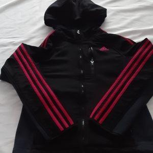 Girls med 10/12 adidas full zip jacket warm